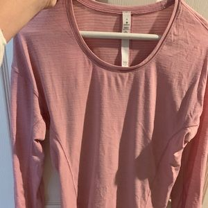 Lulu lemon long sleeve shirt pink